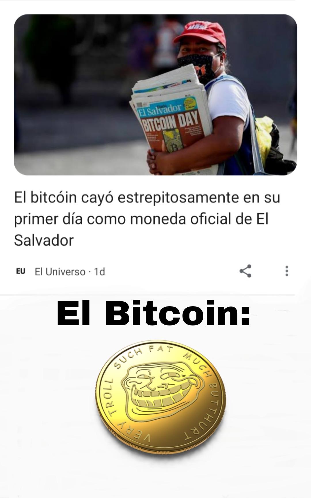 Trolleador Bitcoin - meme