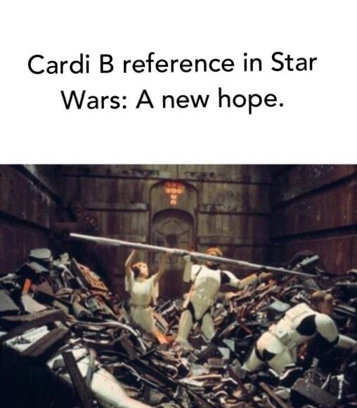 Cardi B is trash - meme
