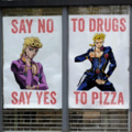 say no say yes to drugs to pizza