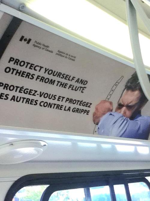 Protect yourself and others from the flute - meme
