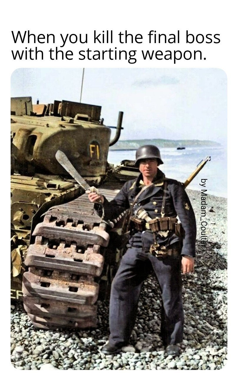 German Marine Soldier after the evacuation of Dunkirk - meme
