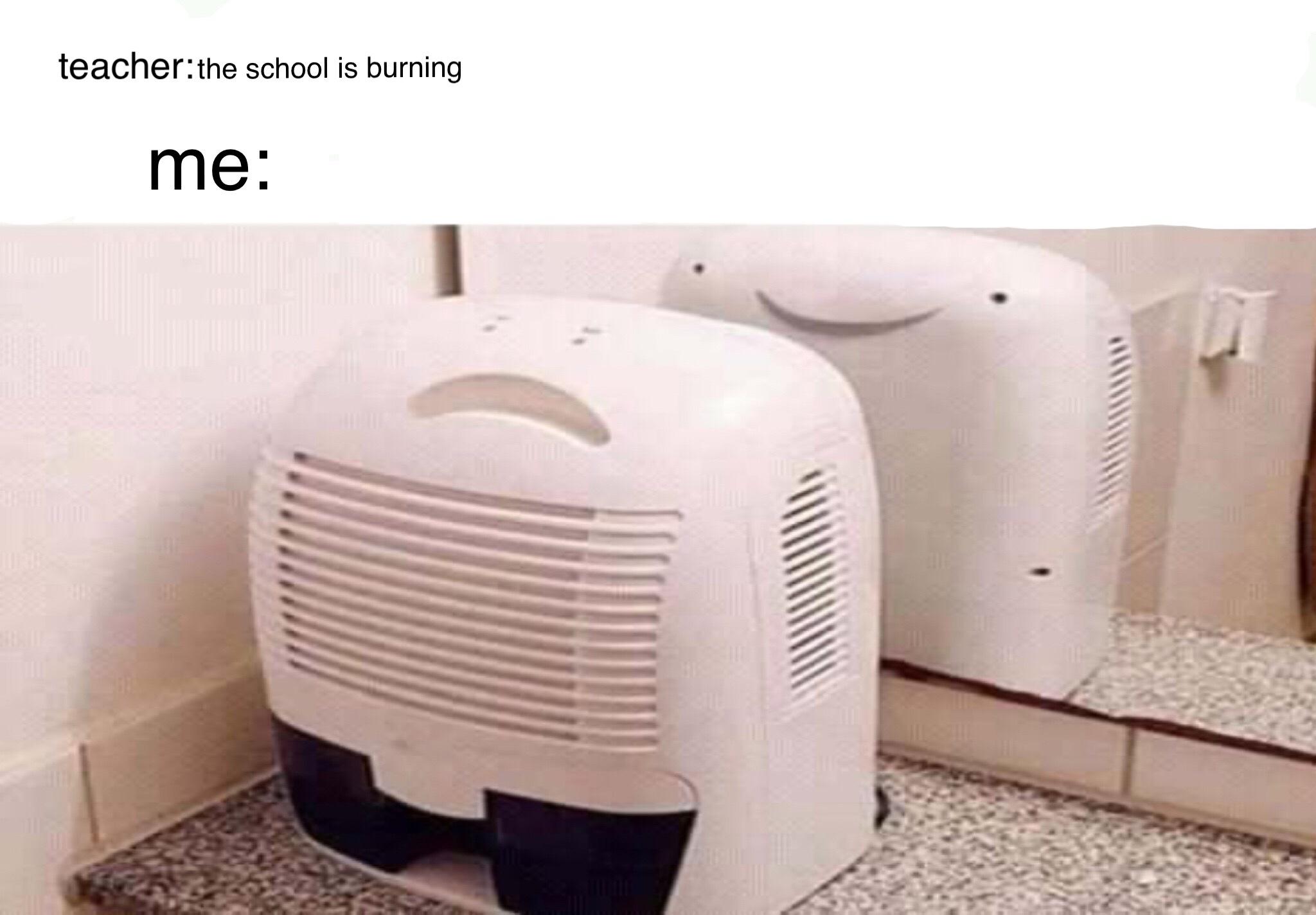 School burning - meme