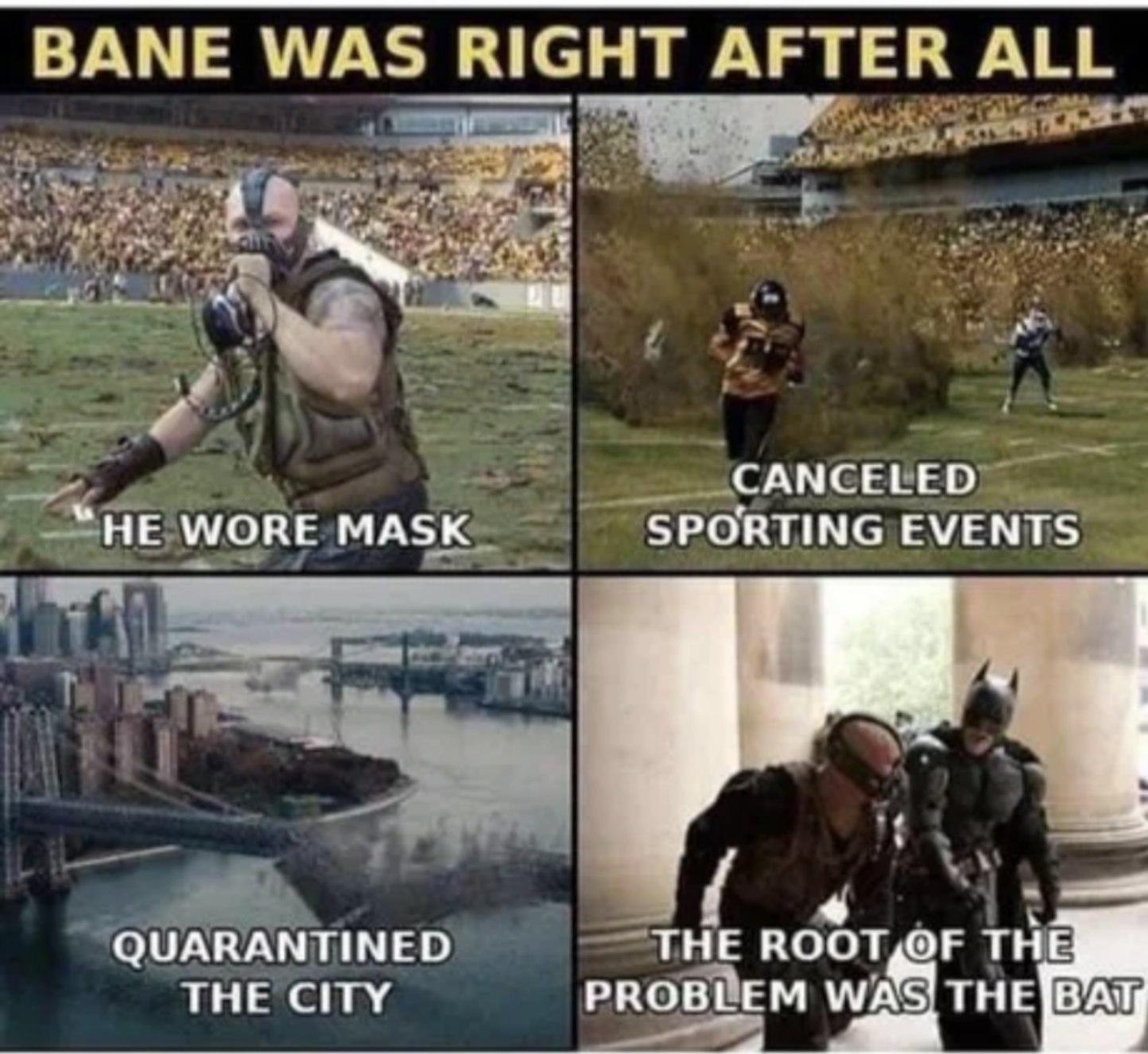 Bane was the hero Gotham needs - meme