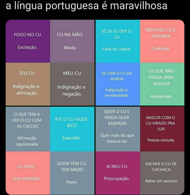 Brasileiros ❤️ Cu - meme