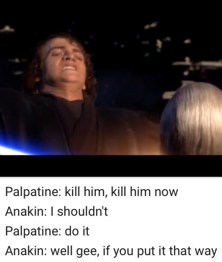 Anakins face = O face - meme