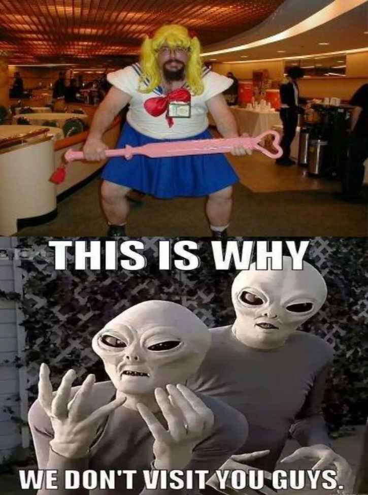 stay in  your gender role when cosplaying - meme