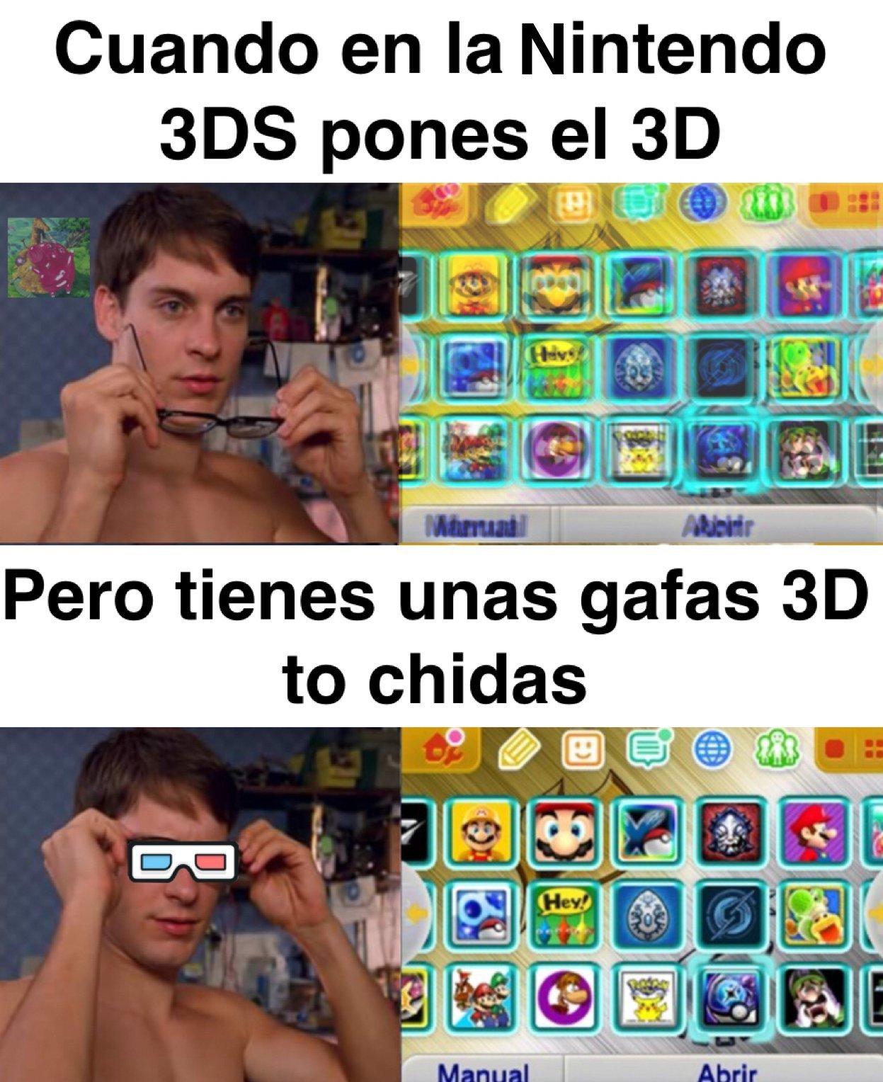 El 3d era una destrucción para los ojos - meme