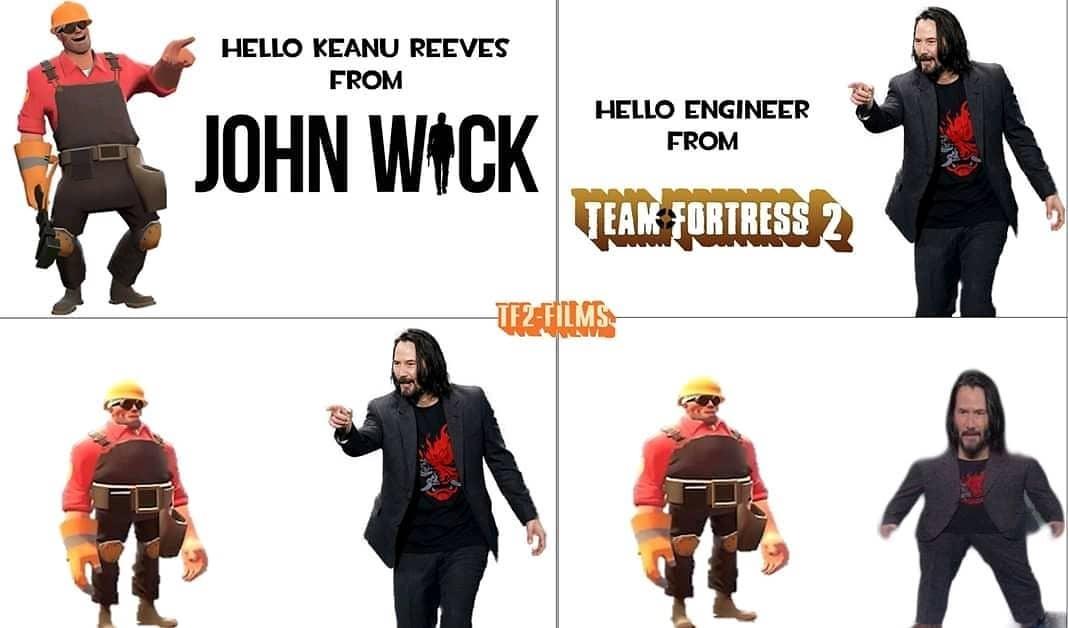 not funny didn't laugh but keanu - meme