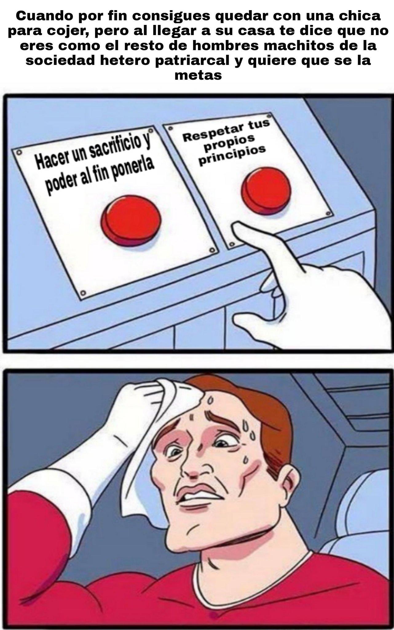 Una decisión  complicada - meme