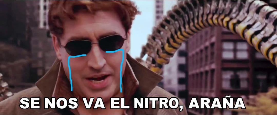 Todo nitro hoy y mañana: Se nos va el nitro, araña - meme