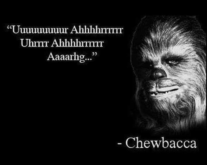 Aquela famosa frase do chewbaca - meme