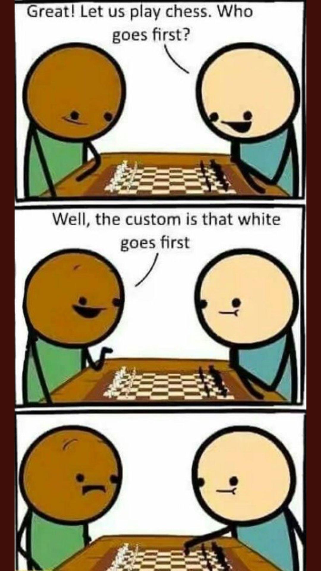 Chess black and white - meme