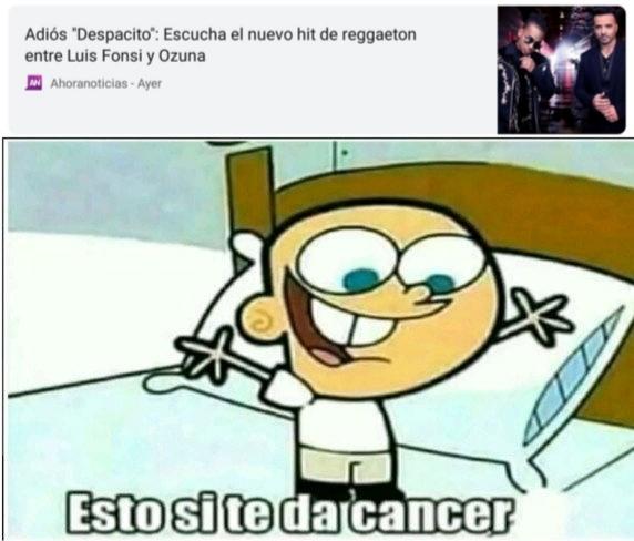 El titulo murió de cancer - meme
