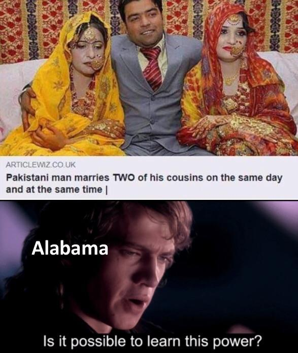 Pakistani man marries two of his cousins on the same day and at the same time - meme