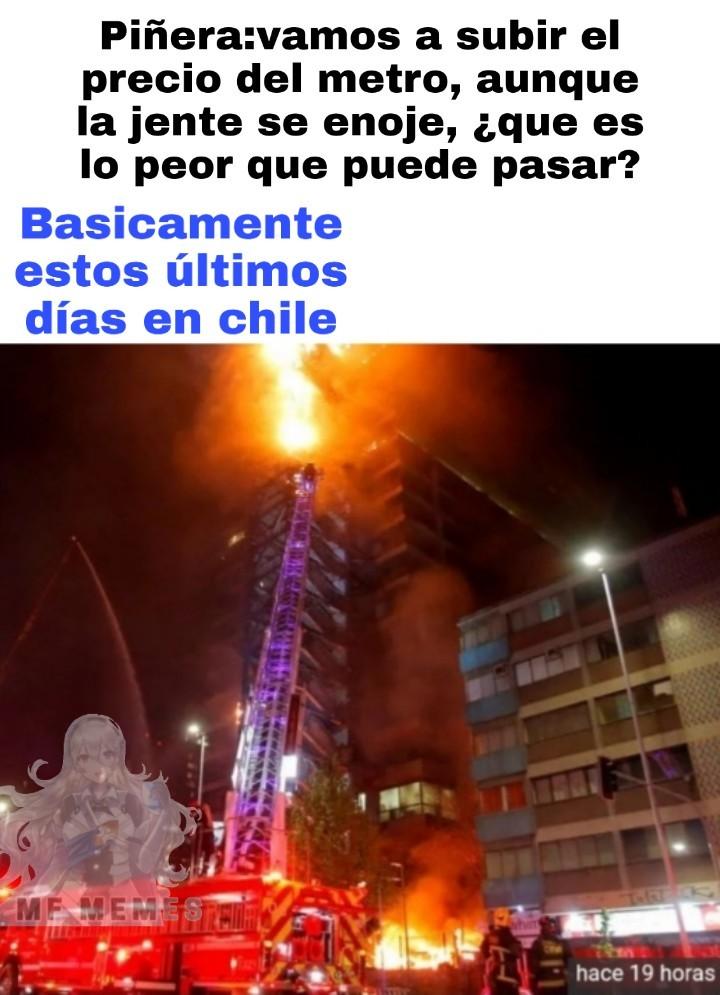 Esto es terrible, y ni siquiera vivo en Santiago - meme