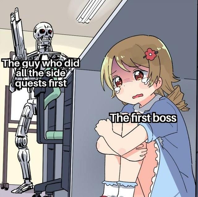 Scared First Boss - meme