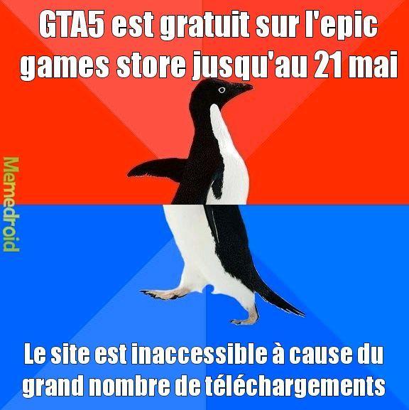 NO FAKE PROFITEZ EN GTA 5 GRATUIT !! - meme