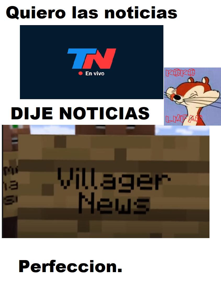 Villager news! - meme