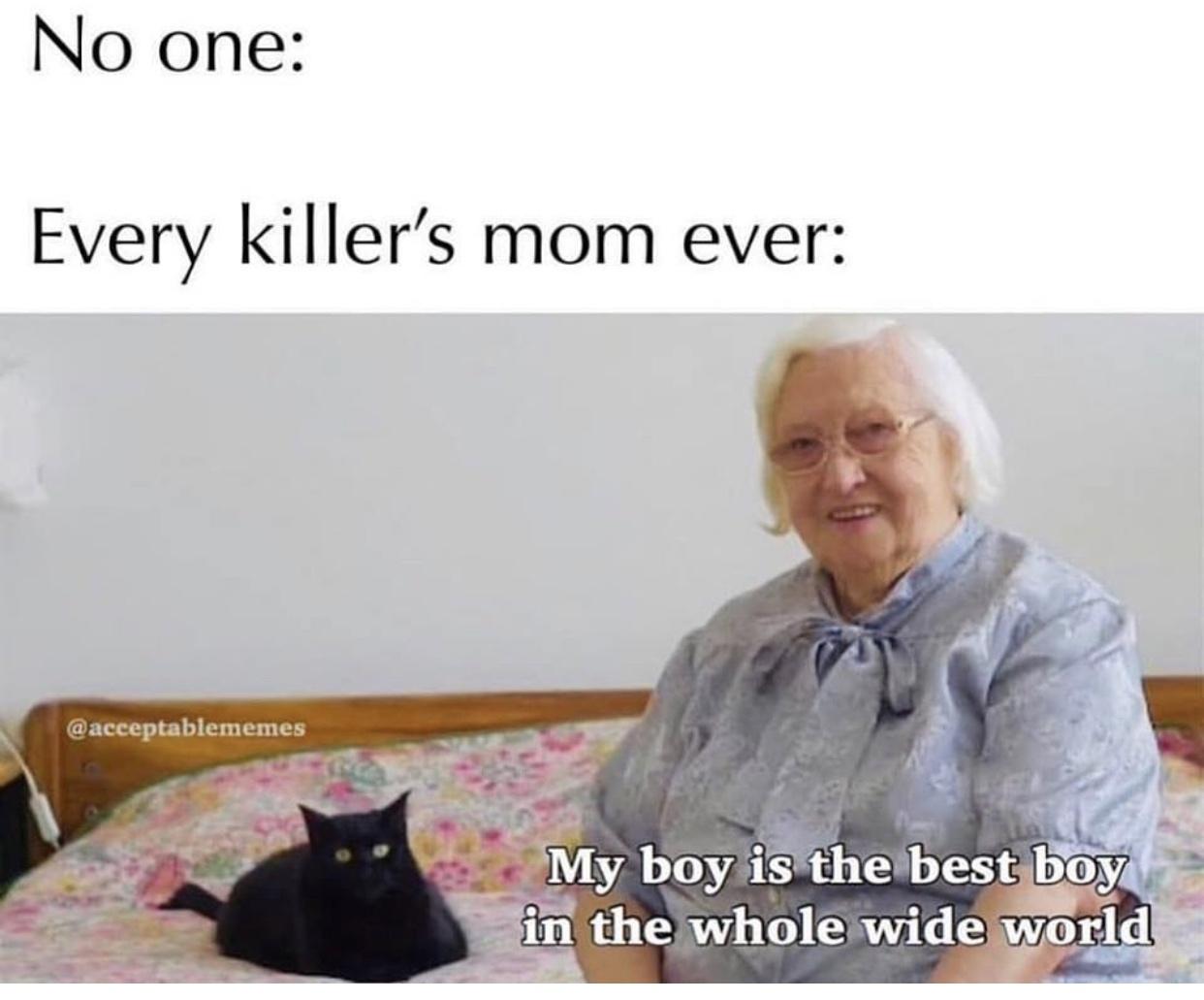 Killer's have Mothers too - meme