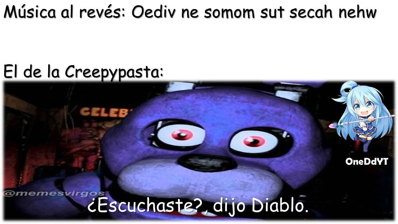 Música al revés By: OneDdYT - meme