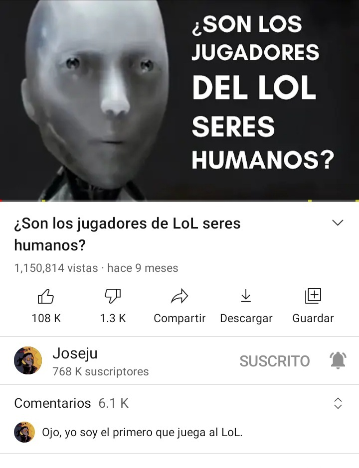 ¿Son los jugadores de LoL seres humanos? - meme