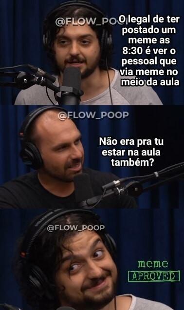 Flow poop, achado não é roubado - meme