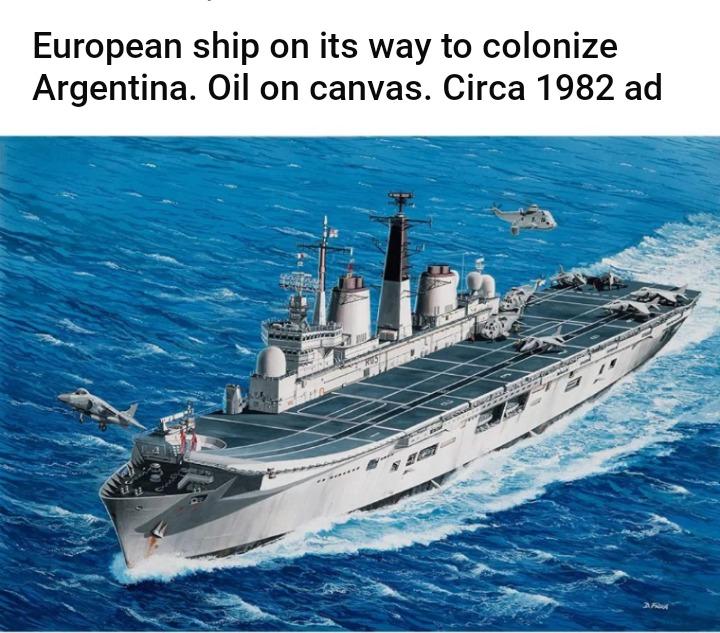 Argentina sendo colonizado - meme