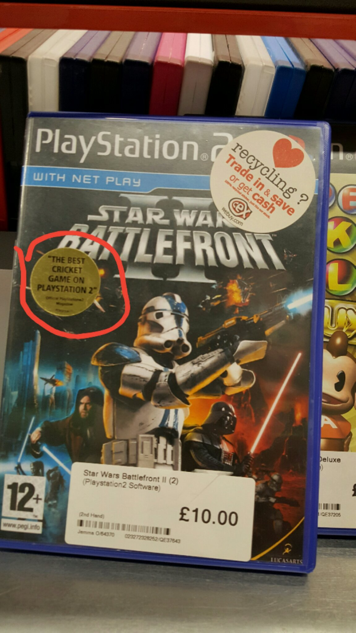 Saw this In cex... Battlefront 2 is best cricket game. - meme