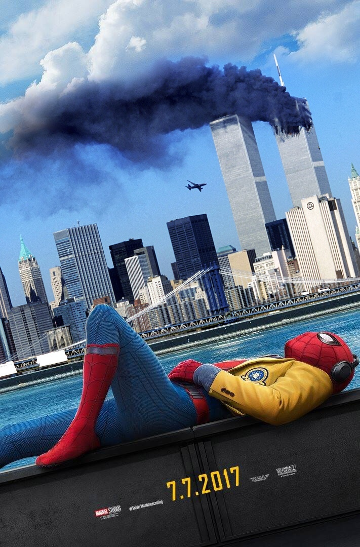 I wish they used to twin towers trailer for Spider-Man 2 - meme