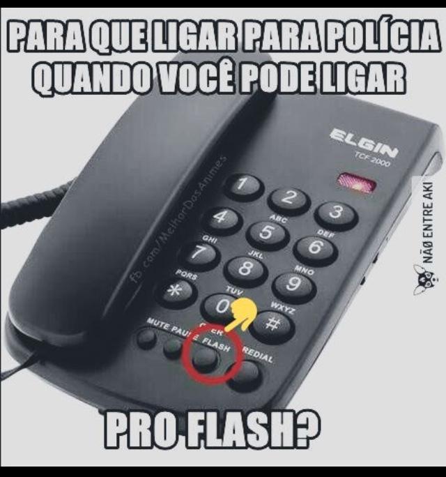 ligar pra polícia? - meme
