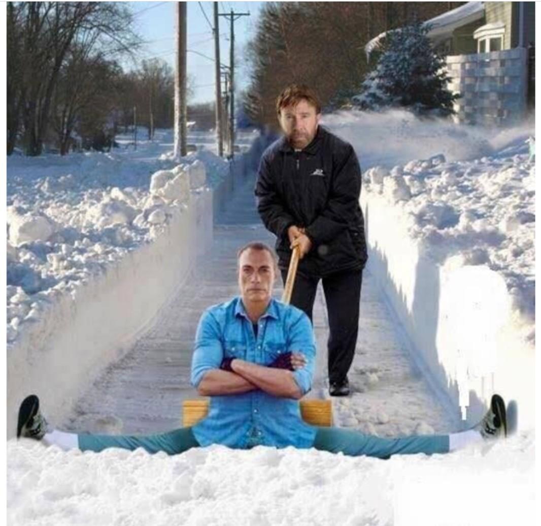 El mejor truco para quitar la nieve - meme