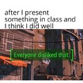 Turns out I suck at presentations