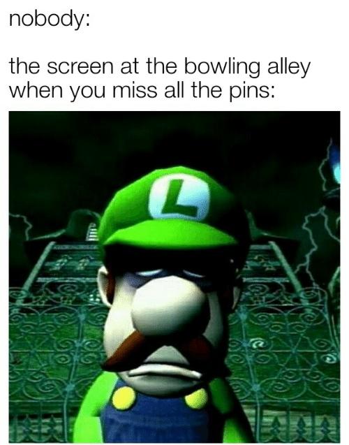 Depressed  Luigi :( - meme