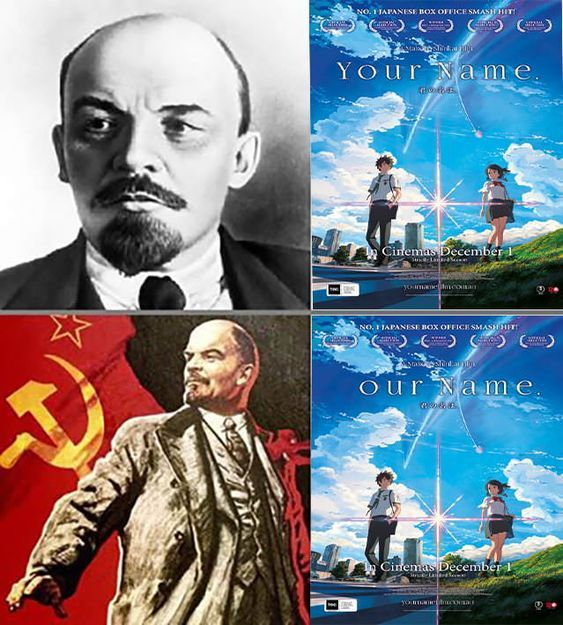 communist anime - meme