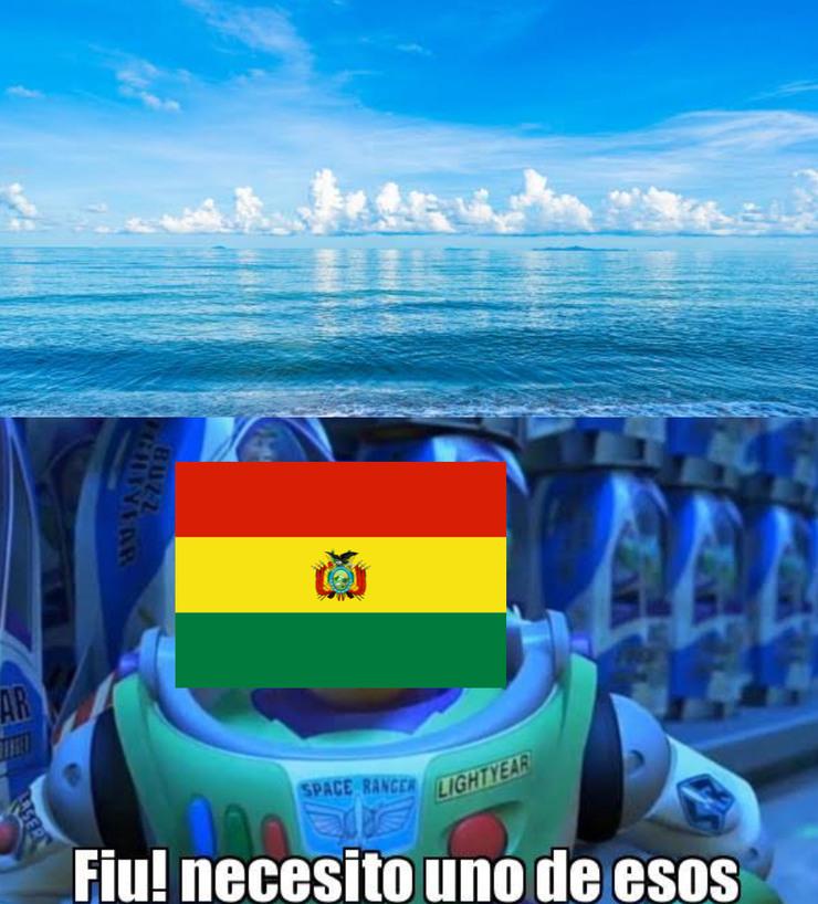 El mejor mar boliviano - meme