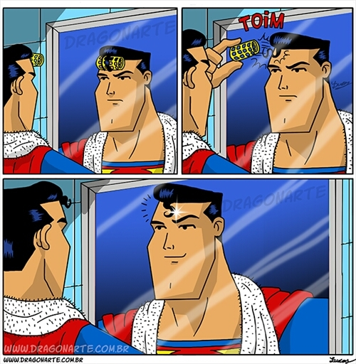 And That Kids is How Superman Gets That Curl - meme