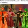 Quand tout le monde prend le même personnage sur super smash