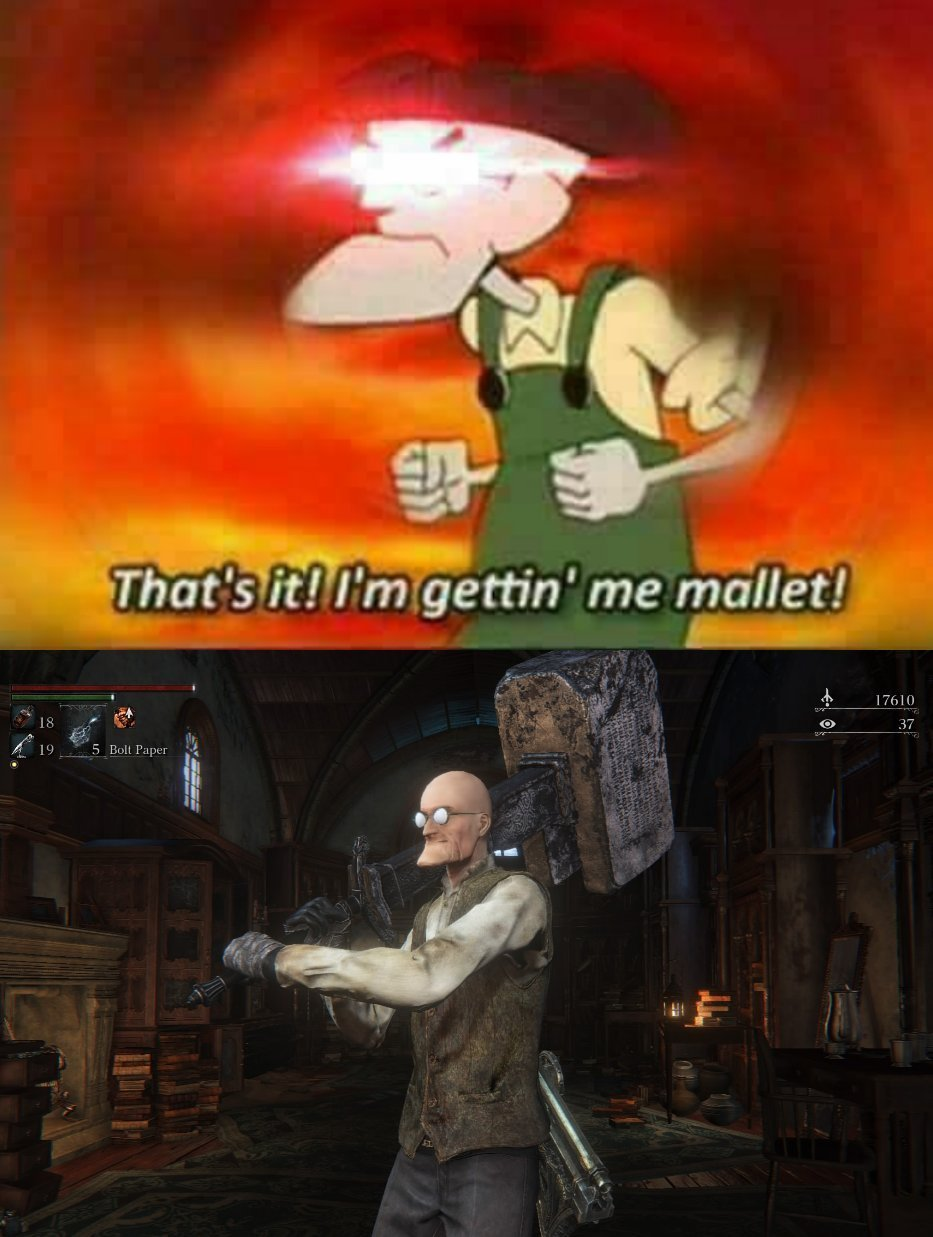 Mallet intensifies - meme