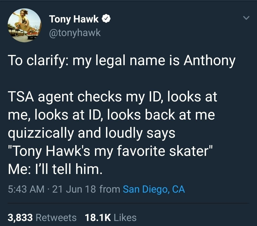 Tony Hawk pro skater - meme
