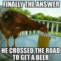 why does the chicken cross the road