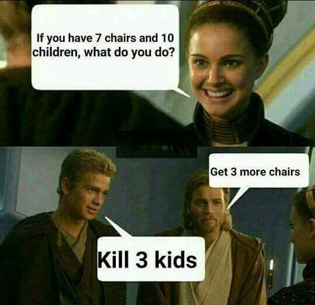 No kids thanks. - meme