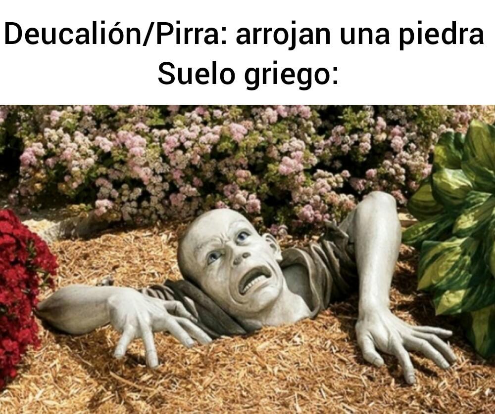 Deucalión y Pirra - meme
