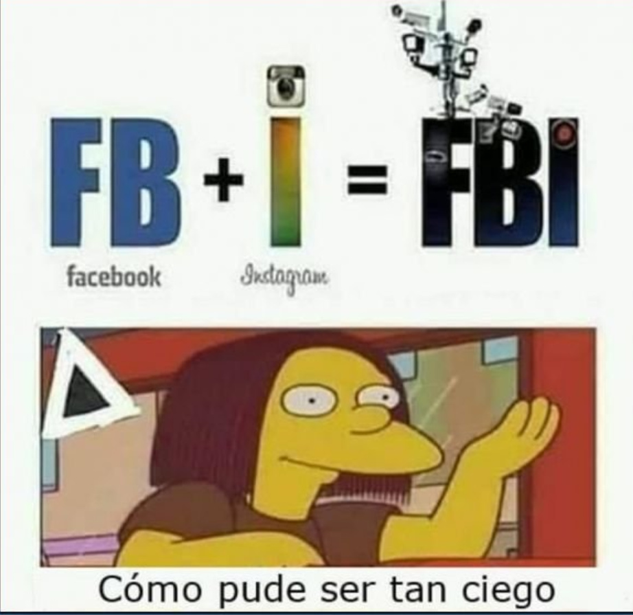 Facebook y instagram - meme