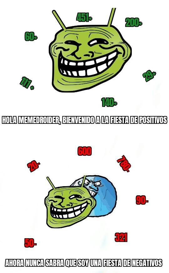 Negativos positivos - meme