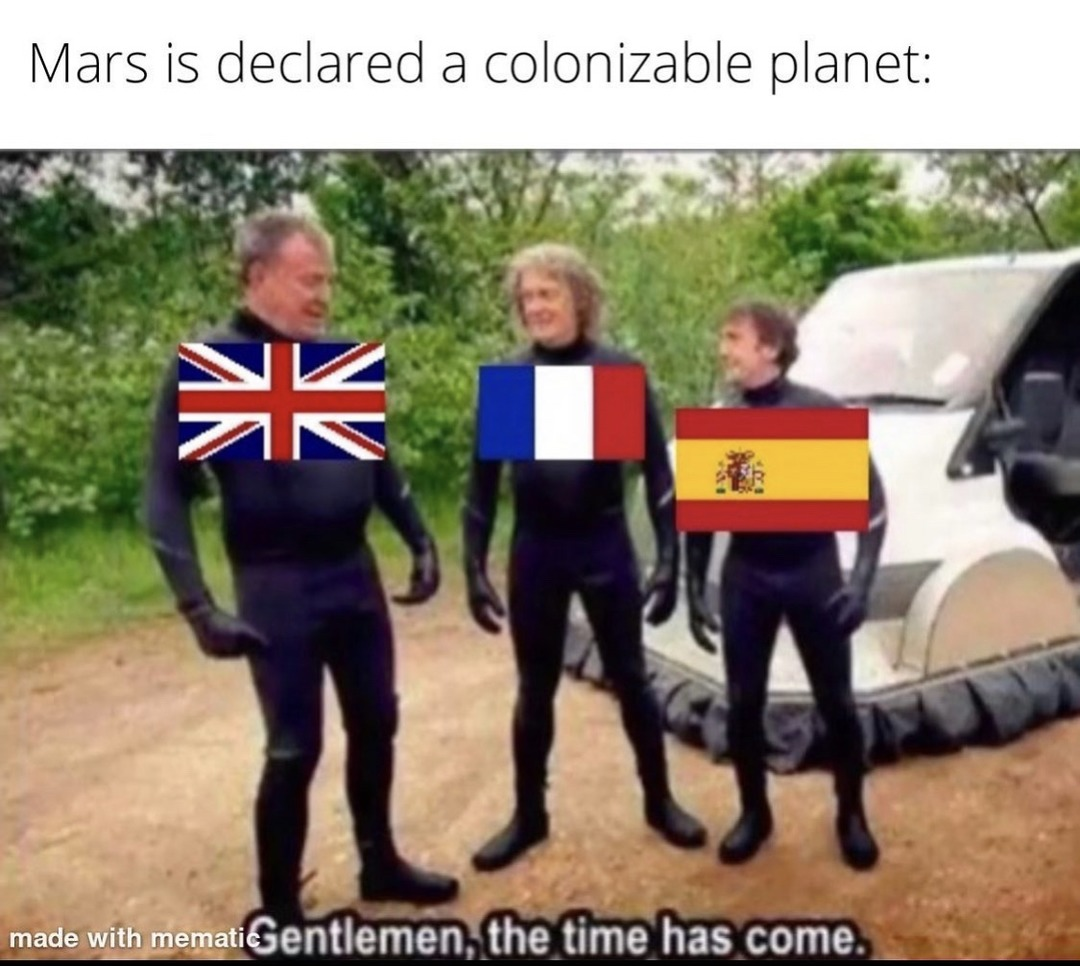 the sun never sets on our glorious British empire - meme