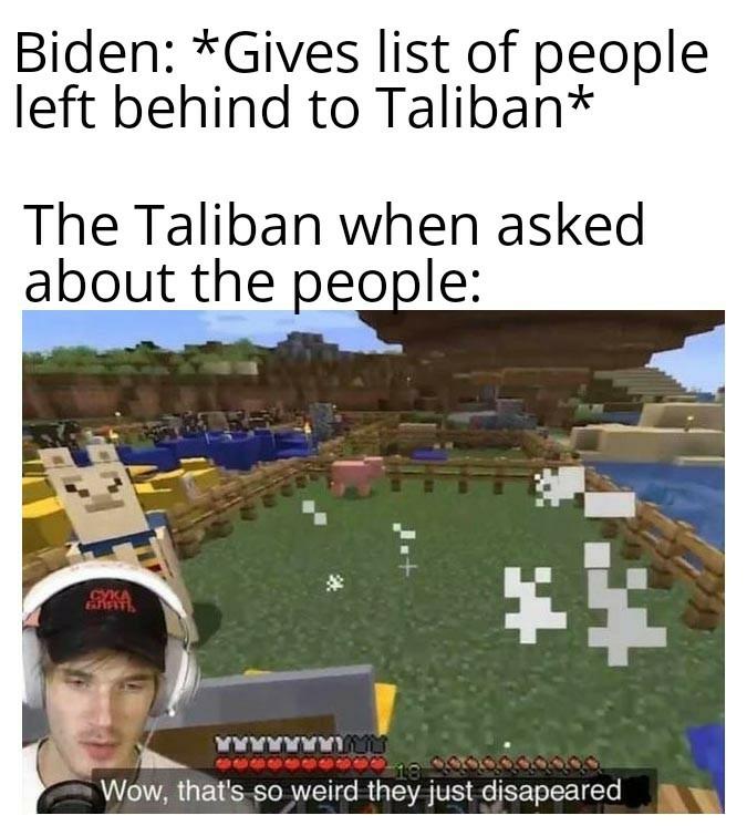 Le tallyban and biden sucks - meme