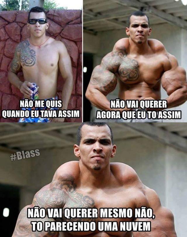 Músculo não muda nada - meme