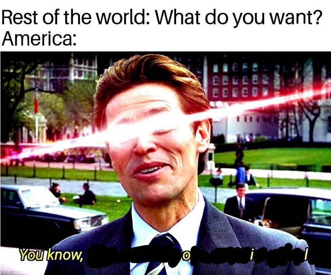 Oil is the American food - meme