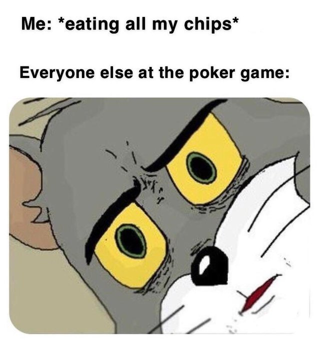 Poker game - meme