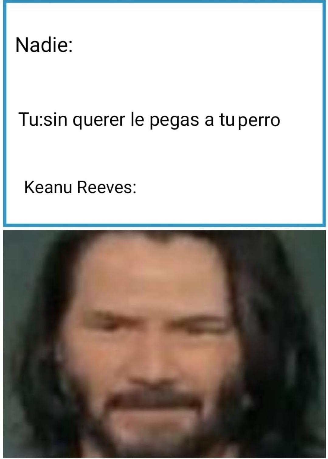 Este meme es perfecto porque tiene a Keanu Revees
